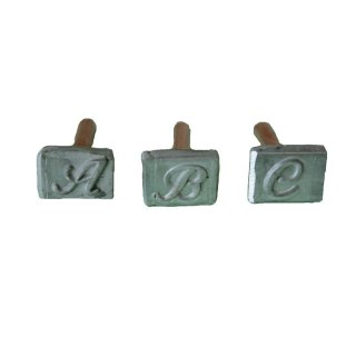 Brennstempelsatz kompletter Buchstabensatz