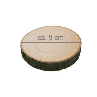 Rindenbrett rund Durchmesser ca. 9 cm