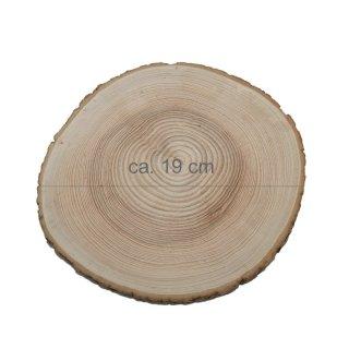 Rindenbrett rund Durchmesser ca. 19 cm