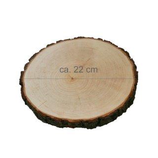 Rindenbrett rund Durchmesser ca. 22 cm