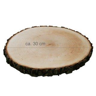 Rindenbrett rund Durchmesser ca. 30 cm