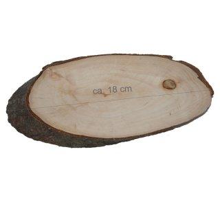 Rindenbrett oval Größe ca. 14 x 7 cm