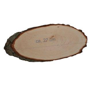 Rindenbrett oval Größe ca. 27 x 13 cm