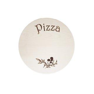 Schneidebrett rund - Druck Pizza